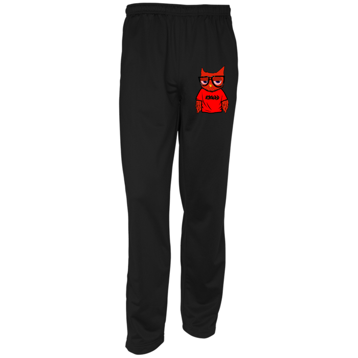 RED/BLK KNURD TRACK PANTS