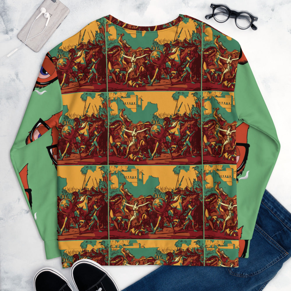 KNURD 420 HIGH ART CREW NECK SWEATER