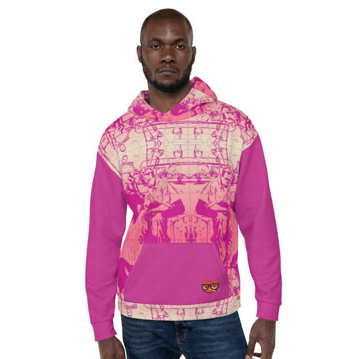 MONEY ON MY MIND PINK HOODIE