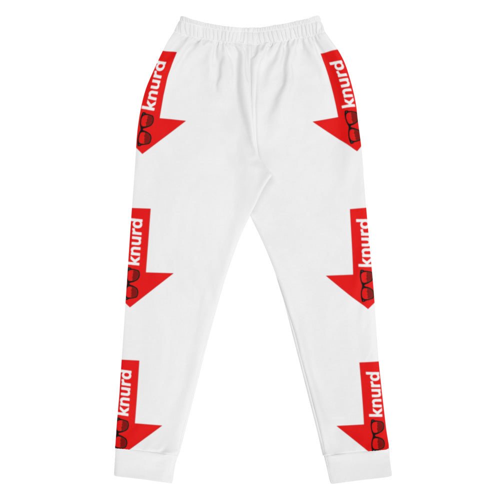 WOMENS RED/WHT KNURD JOGGERS