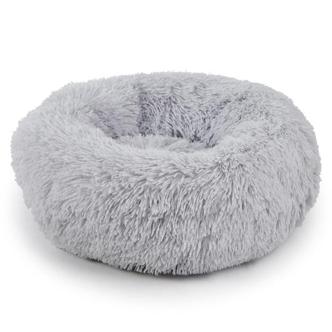 Donut dog bed light grey