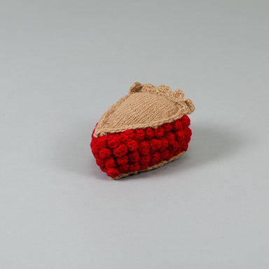 WARE of the DOG hand knit cherry pie dog toy