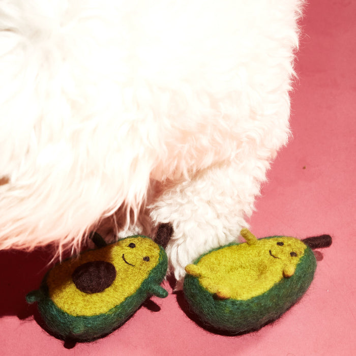 WARE of the DOG boiled wool avocado dog toy