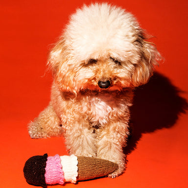 WARE of the DOG hand knit ice cream toy