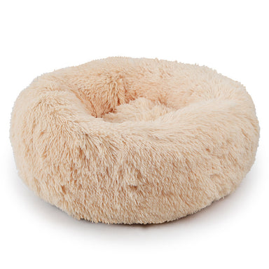 FLOUFFY FEEL super soft donut dog bed in beige