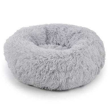 FLOUFFY FEEL super soft donut dog bed in light grey