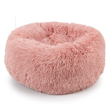 FLOUFFY FEEL super soft donut dog bed in pink
