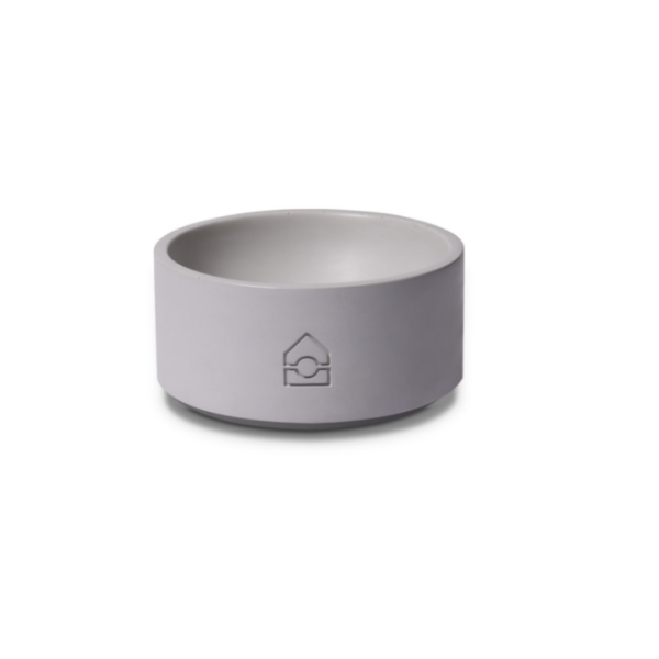 Labbvenn Vuku concrete dog bowl in grey