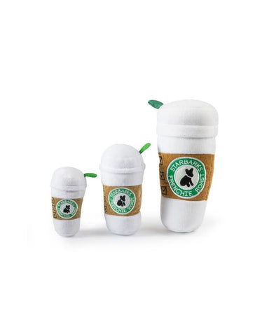 Starbarks Coffee Cup Plush Dog Toy With Lid