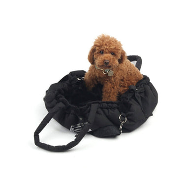 Cloudy dog carrier bag in black