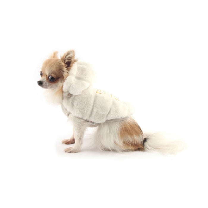 Doodle Faux-Fur dog winter coat with hoodie