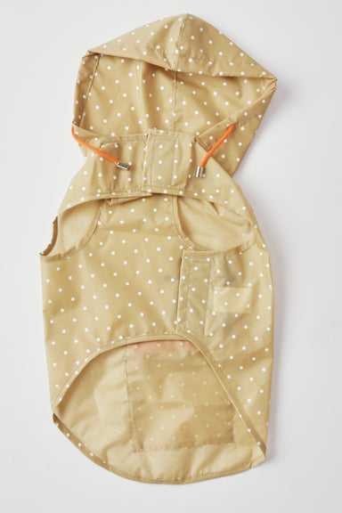 WARE of the DOG Tan Polka Dot Anorak Raincoat