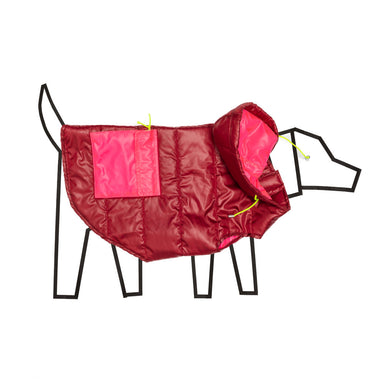 Ware of the DOG Colorblock puffer burgundy/pink