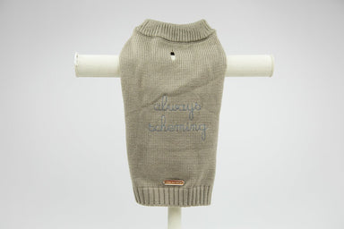 'always scheming' dog knit jumper