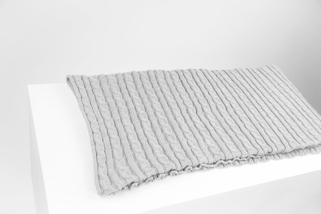 Cable knit dog blanket