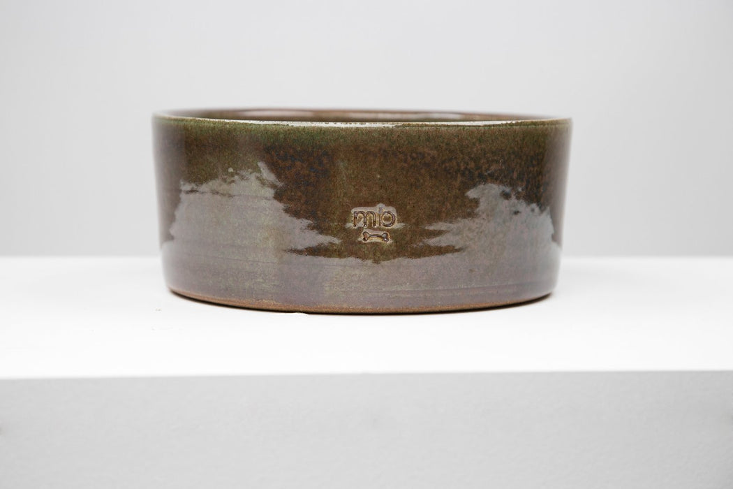 Max-Bone ceramic dog bowl in green