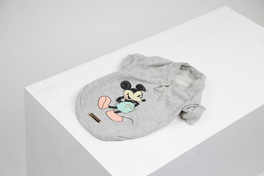 Mickey Mouse classic dog t-shirt in grey