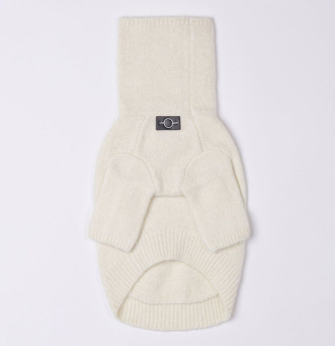 Turtleneck Dog Sweater White