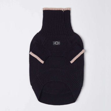 Contrast Turtleneck Jumper Blue (Pink Edge)