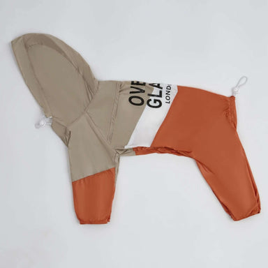 Contrast Thin Onesie Coat Apricot/Orange