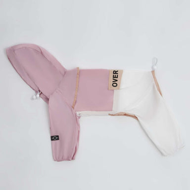Contrast Thin Onesie Coat Pink/White