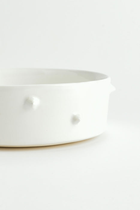 WARE of the DOG Spike dog bowl in white