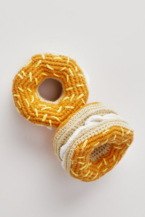 WARE of the DOG Hand Crochet Bagel & Cream Cheese