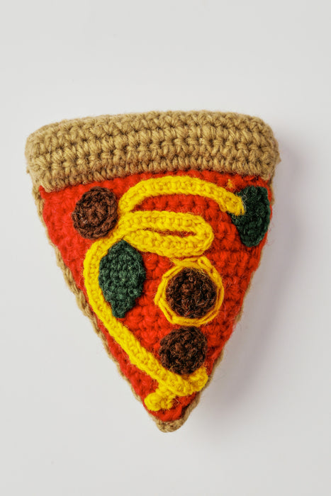WARE of the DOG hand knit pizza dog toy