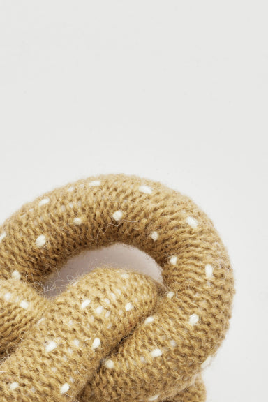 WARE of the DOG hand knit pretzel dog toy