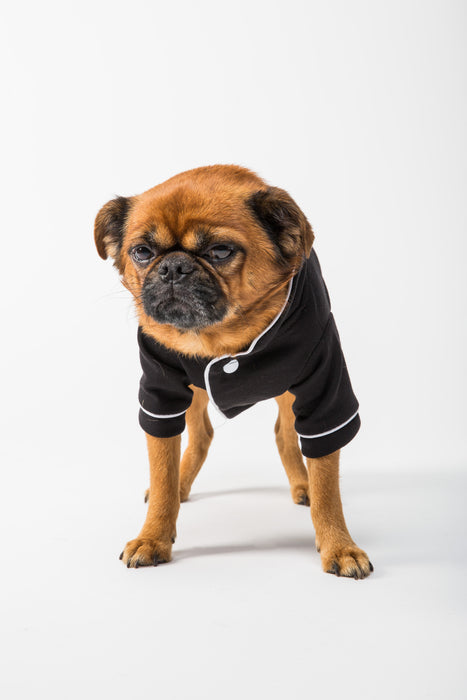 FLOUFFY FEEL soft dog pyjamas in black