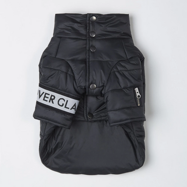 Button Up Puffer Jacket Black