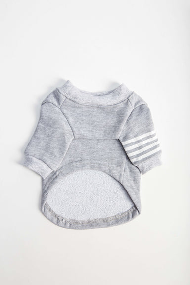 FLOUFFY FEEL cotton dog shirt in grey with stripes