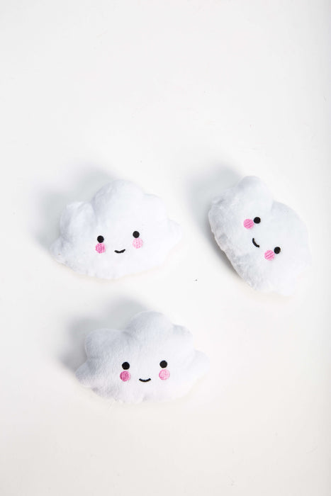 FLOUFFY FEEL mini plush cloud dog toy in white