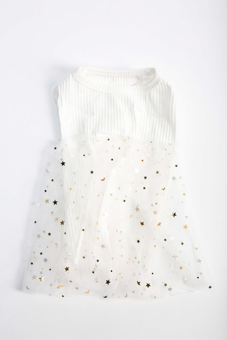 FLOUFFY FEEL princess dog dress in white