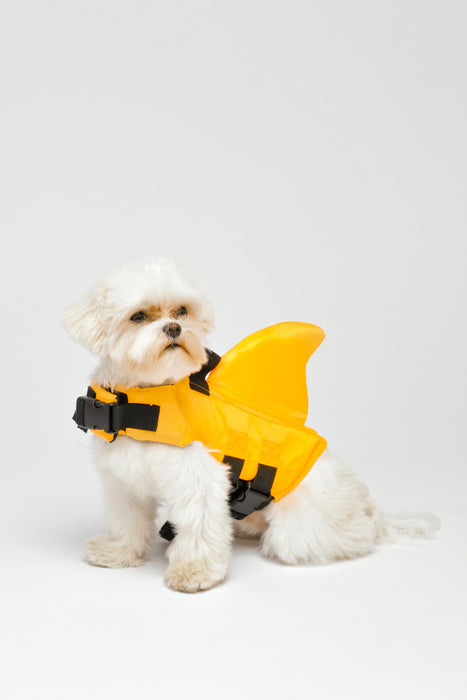 FLOUFFY FEEL shark fin dog lifejacket