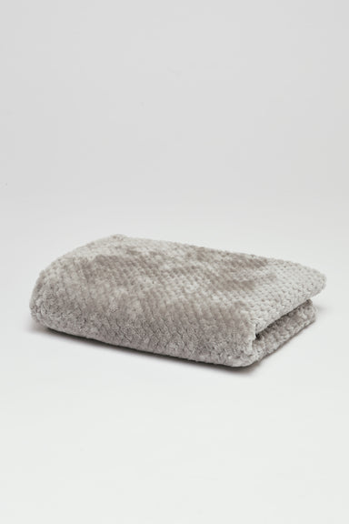FLOUFFY FEEL soft fleece dog blanket in grey