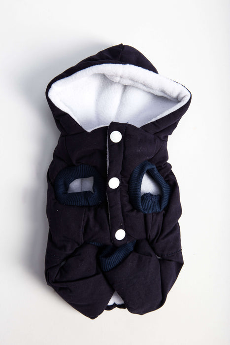 FLOUFFY FEEL wind dog jacket with hoodie in black