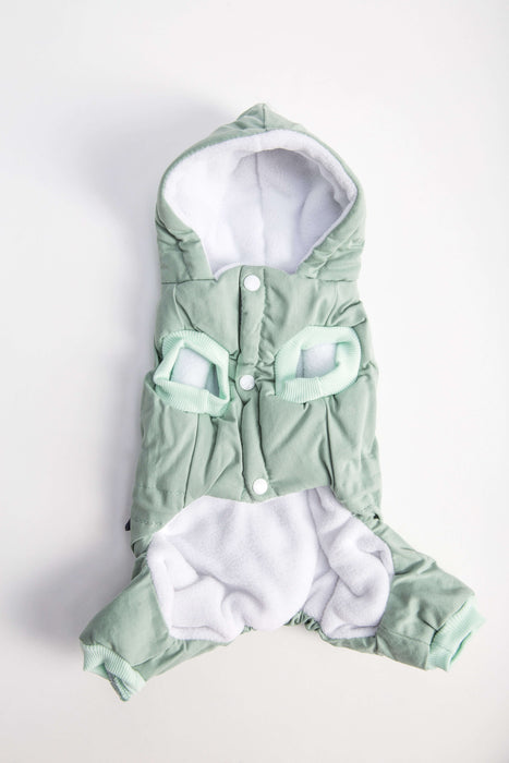 FLOUFFY FEEL wind dog jacket with hoodie in green