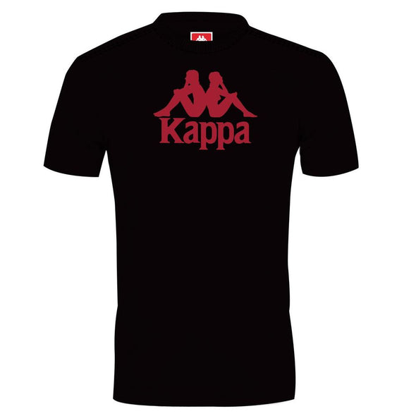 Polo Manga Corta Kappa AUTHENTIC ESTESSI Slim Black Red DK - Kappa Perú Oficial
