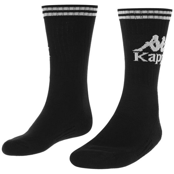 AUTHENTIC ASTER 1PACK Medias KAPPA BLACK-WHITE - Kappa Perú Oficial