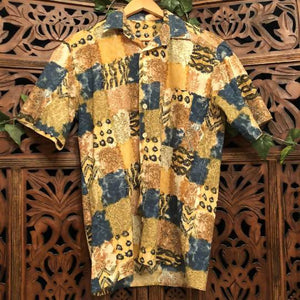 Men's Vintage Patchwork Print Shirt - Medium/ Large Planetary People