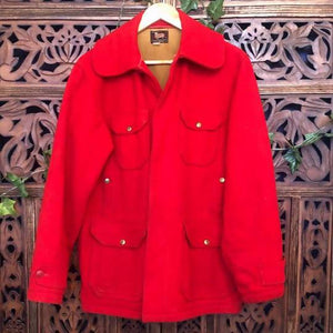 Men's Red Vintage Woolrich Coat Planetary People