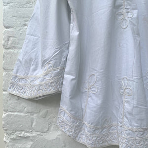 White Kaftan Embroidery Shirt