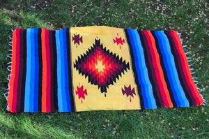 Large Aztec Handwoven Throw/Rug