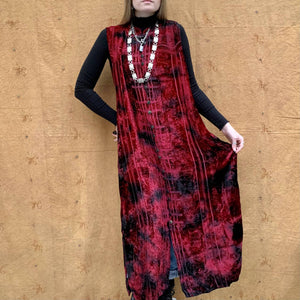 Ruby Heavily Embroidered Velvet Overcoat Portobello Vintage Market