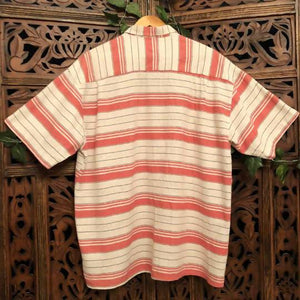 Men's Vintage Short Sleeved Striped Shirt - Large Planetary People