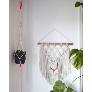 Wall Hanging with Copper Pipe by Kalicrame