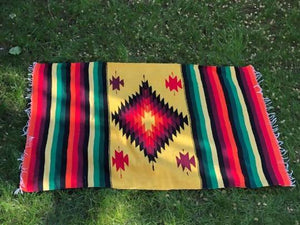 Large Aztec Print Throw/Rug Planetary People