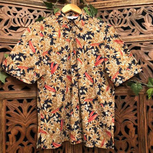 Mens Vintage Medium Floral Shirt Planetary People