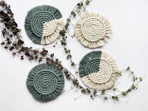 Macrame Coasters - Set of 4